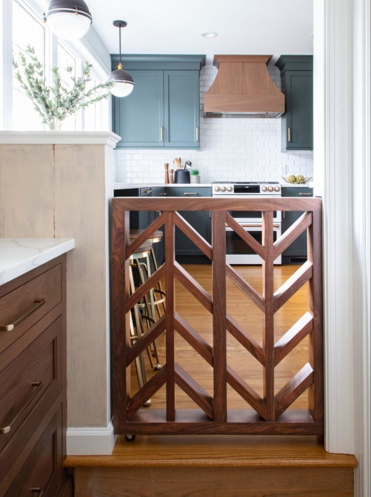 A custom pet gate makes a statement in any home.