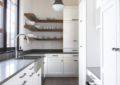 Butler's pantry with white cabinets