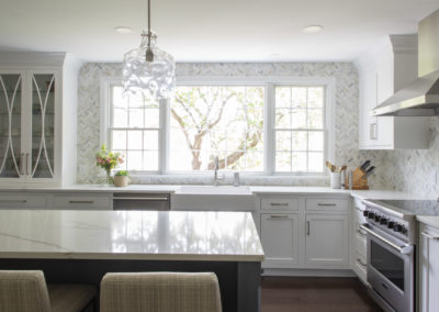 Remodeled kitchen with large window over the sink