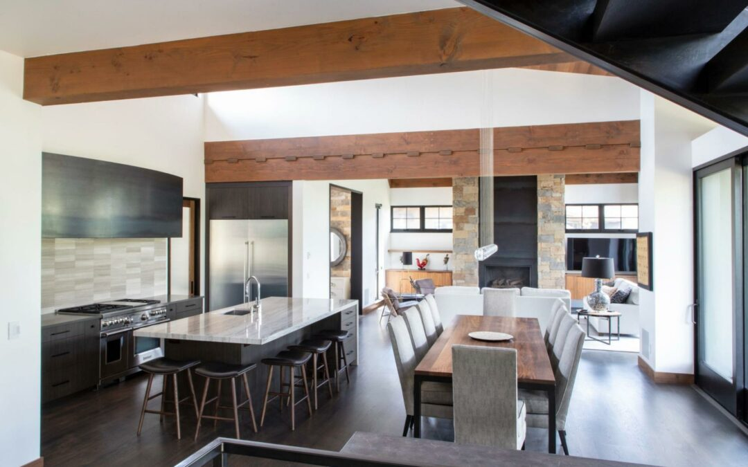 A modern industrial home remodeled by Kitchens by Eileen.